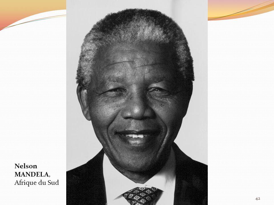 Nelson MANDELA, Afrique du Sud 42