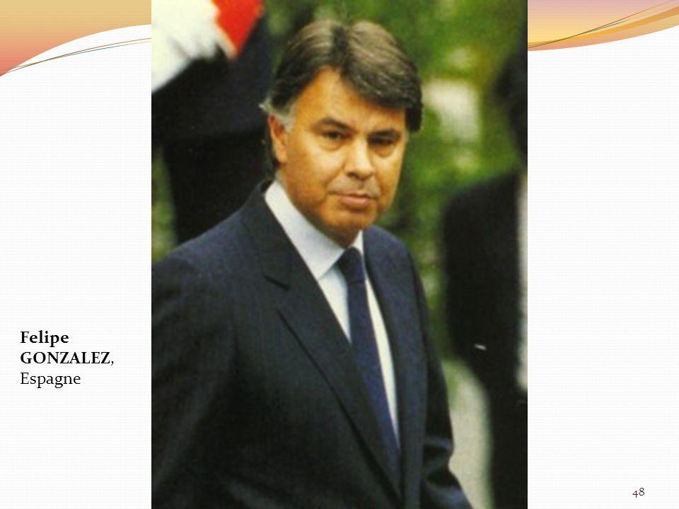 Felipe GONZALEZ, Espagne 48