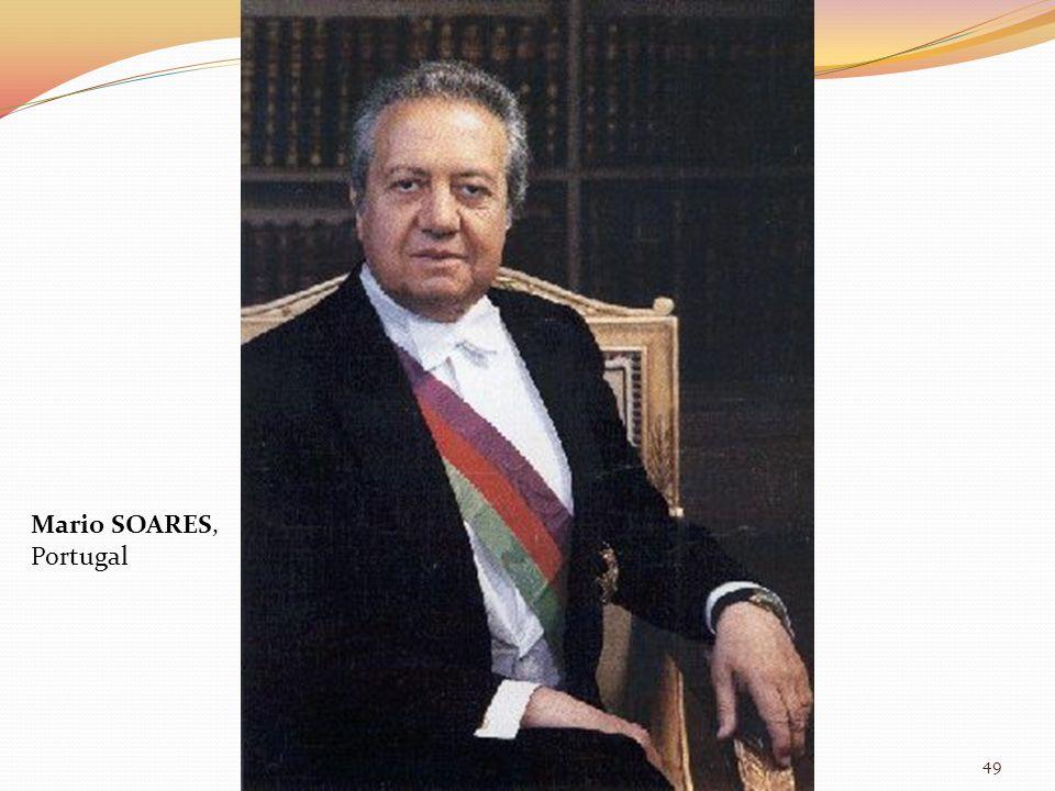 Mario SOARES, Portugal 49