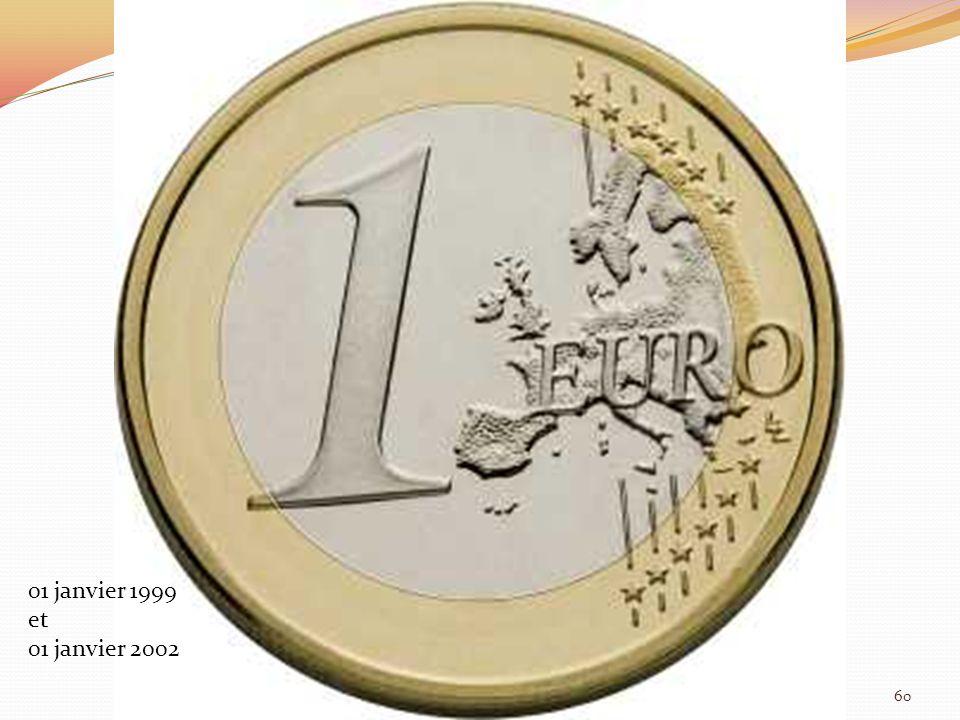 01 janvier 1999 et 01 janvier 2002 60