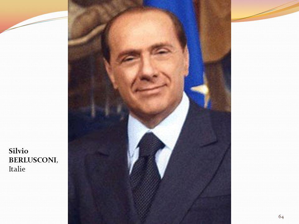 Silvio BERLUSCONI, Italie 64