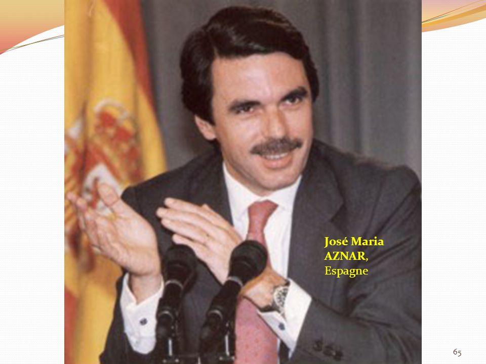 José Maria AZNAR, Espagne 65