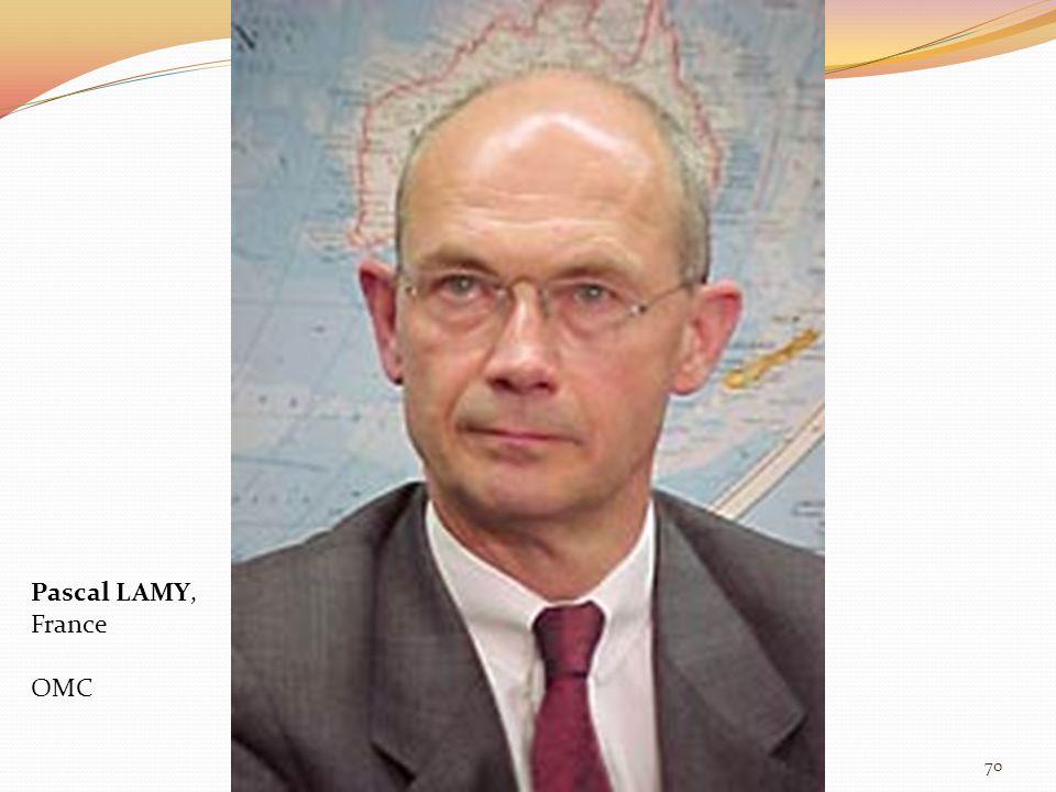 Pascal LAMY, France OMC 70