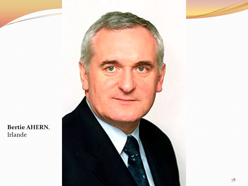 Bertie AHERN, Irlande 78