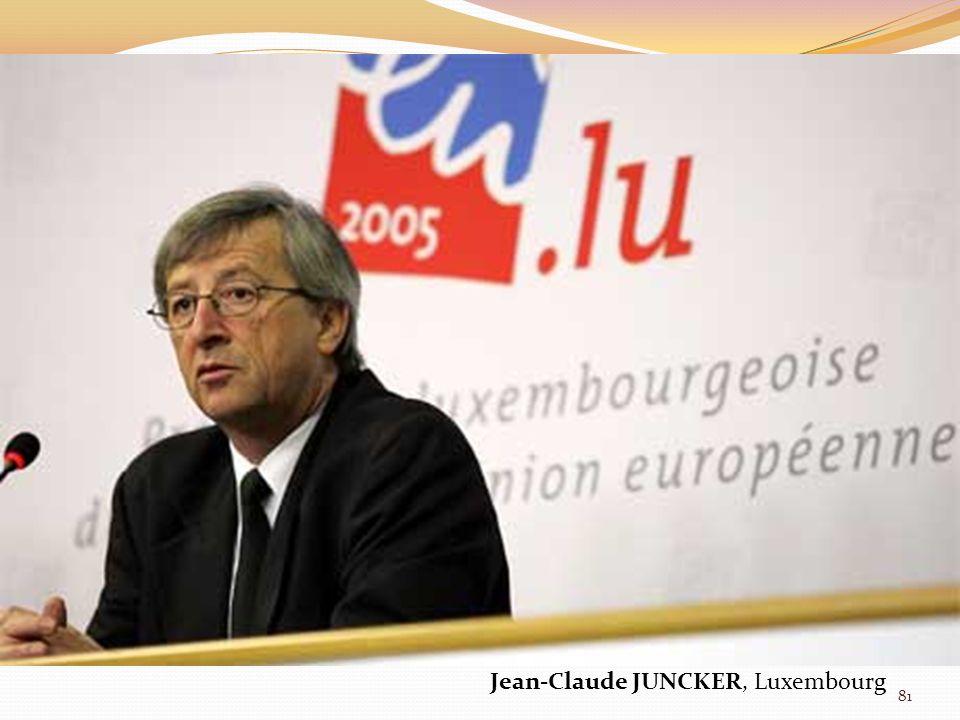 Jean-Claude JUNCKER, Luxembourg 81