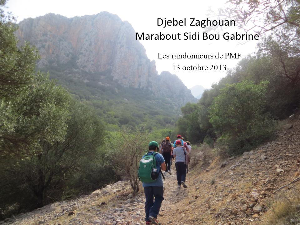 Djebel Zaghouan Marabout Sidi Bou Gabrine Les randonneurs de PMF 13 octobre 2013