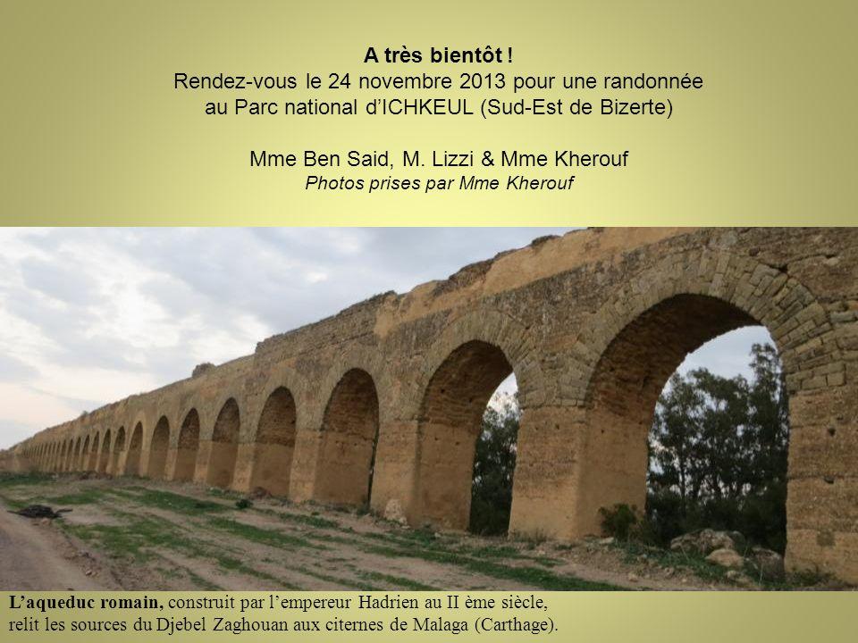 Laqueduc romain, construit par lempereur Hadrien au II ème siècle, relit les sources du Djebel Zaghouan aux citernes de Malaga (Carthage). A très bien