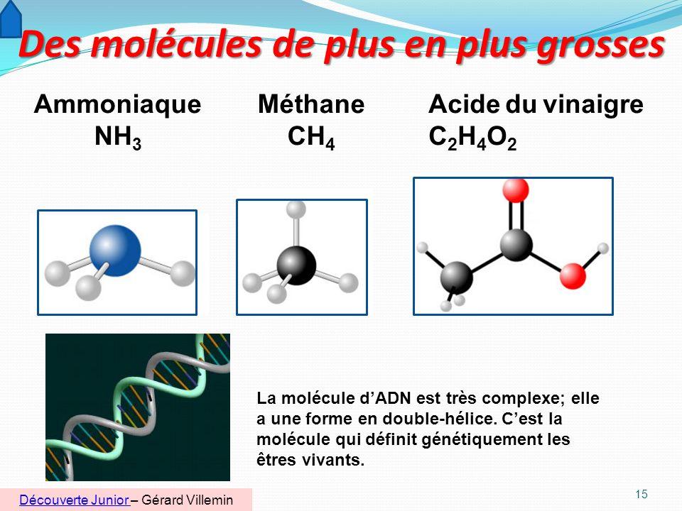 14 Molécules du pétrole Il sert a fabriquer du caoutchouc synthétique. Léthylène est un gaz incolore qui brûle facilement. Il est utilisé pour fabriqu