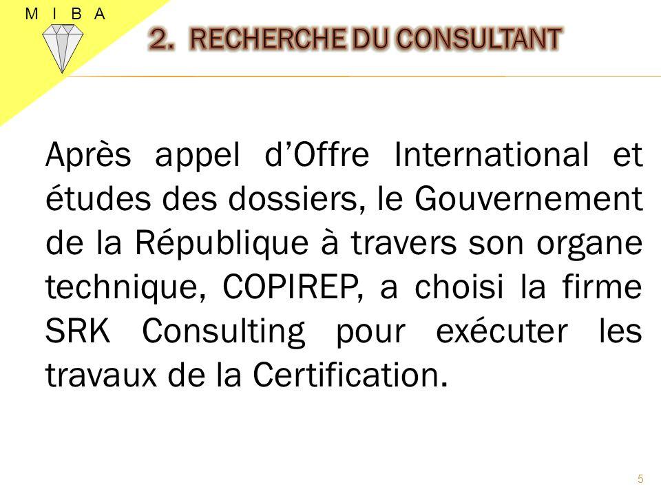 Après appel dOffre International et études des dossiers, le Gouvernement de la République à travers son organe technique, COPIREP, a choisi la firme S