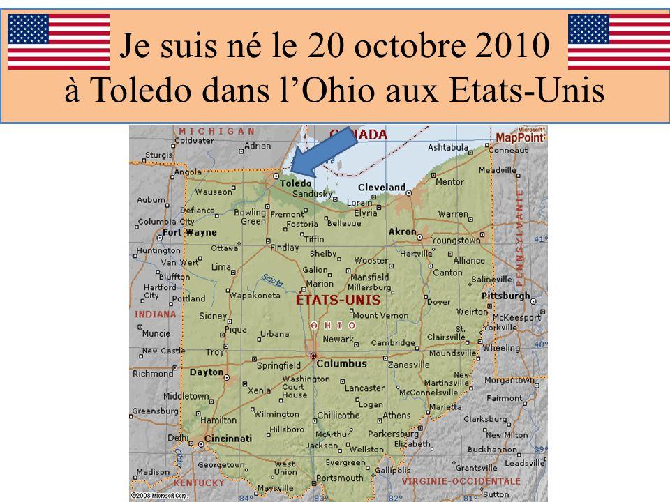 Je suis né le 20 octobre 2010 à Toledo dans lOhio aux Etats-Unis