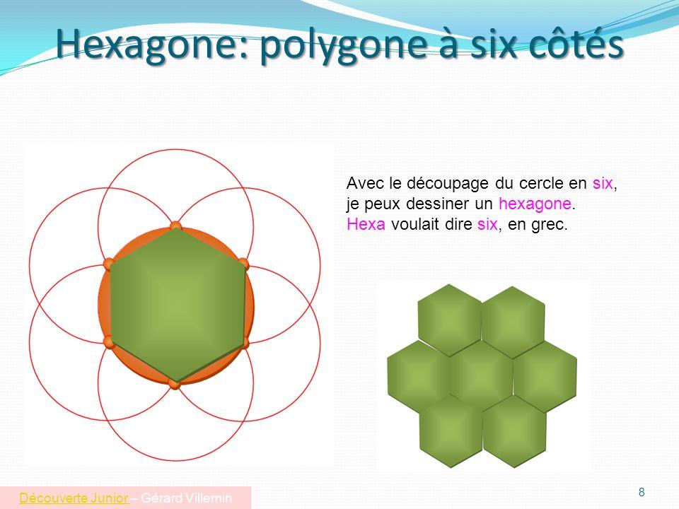Couper le cercle en six parties égales 7 Jai dessiné un cercle orange. Je voudrais le découper en six parts égales. Je copie ce cercle en mettant le c