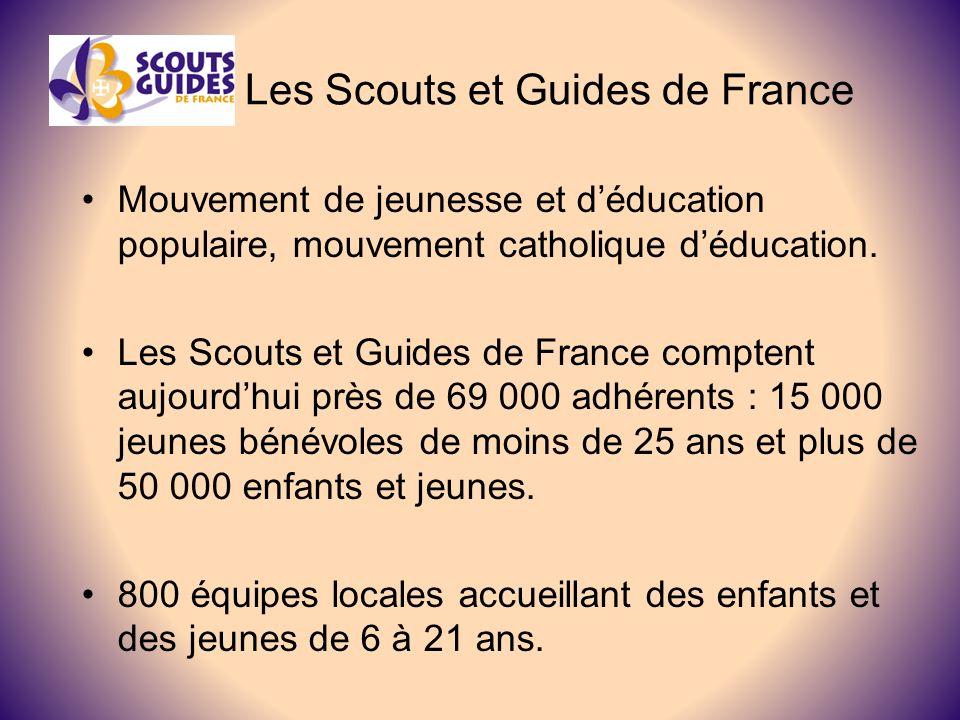 Les Scouts et Guides de France Mouvement de jeunesse et déducation populaire, mouvement catholique déducation.