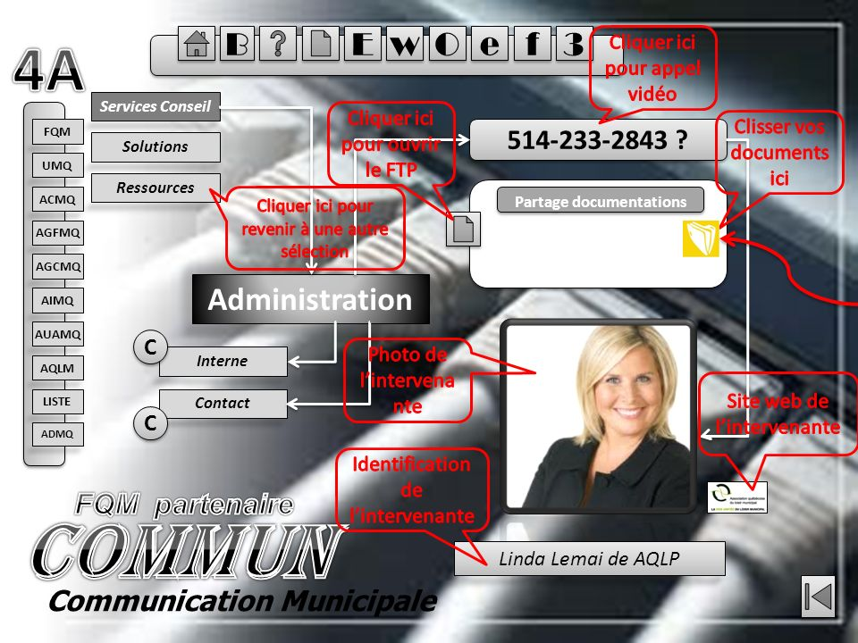 Services Conseil Administration 514-233-2843 .