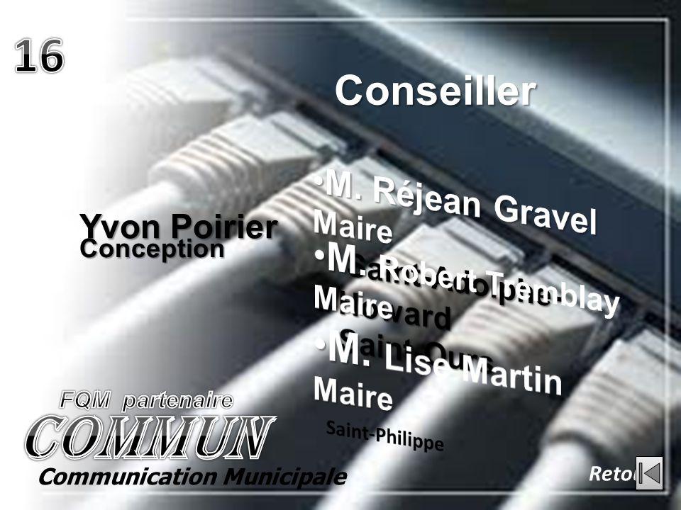 Conception Yvon Poirier Conseiller Retour Communication Municipale