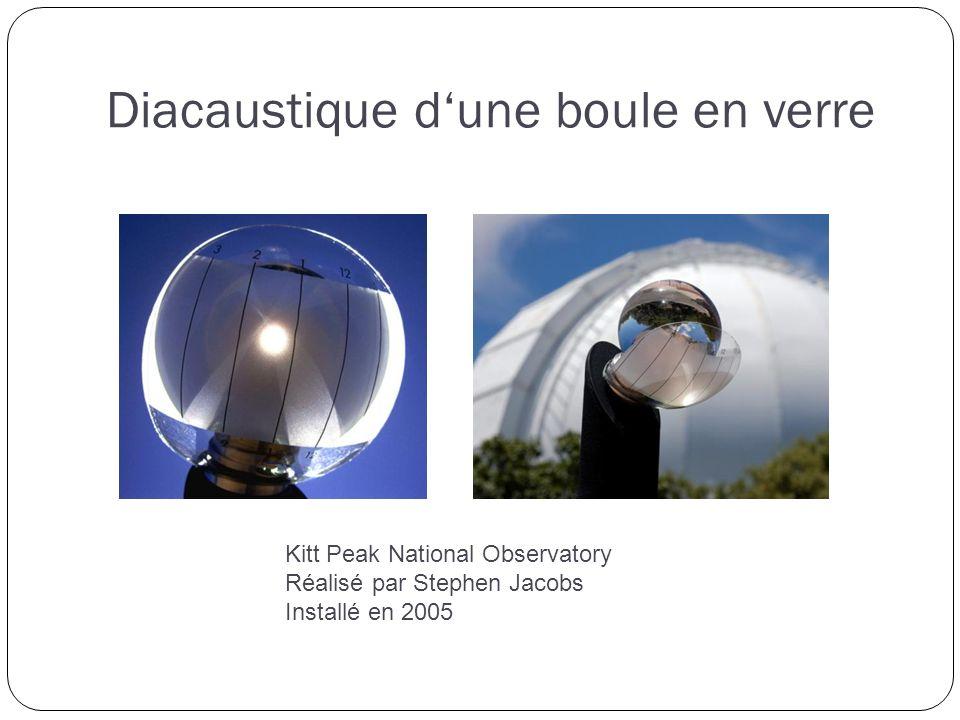 Diacaustique dune boule en verre Kitt Peak National Observatory Réalisé par Stephen Jacobs Installé en 2005