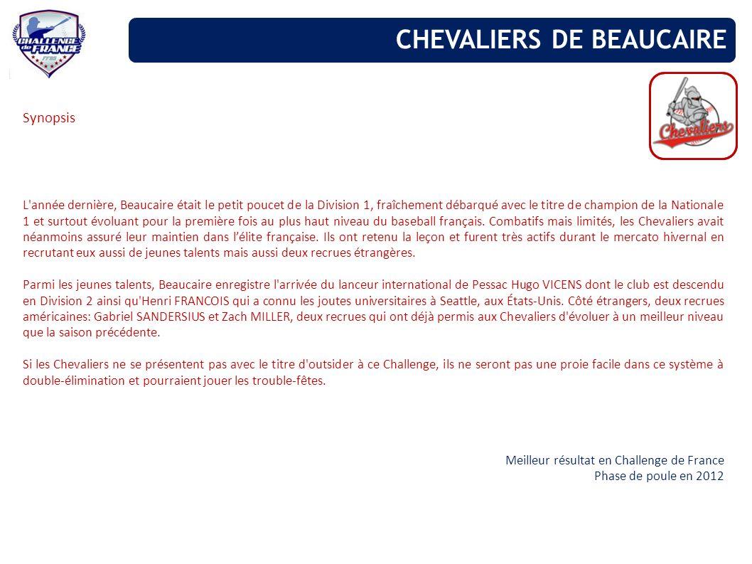 Synopsis L'année dernière, Beaucaire était le petit poucet de la Division 1, fraîchement débarqué avec le titre de champion de la Nationale 1 et surto
