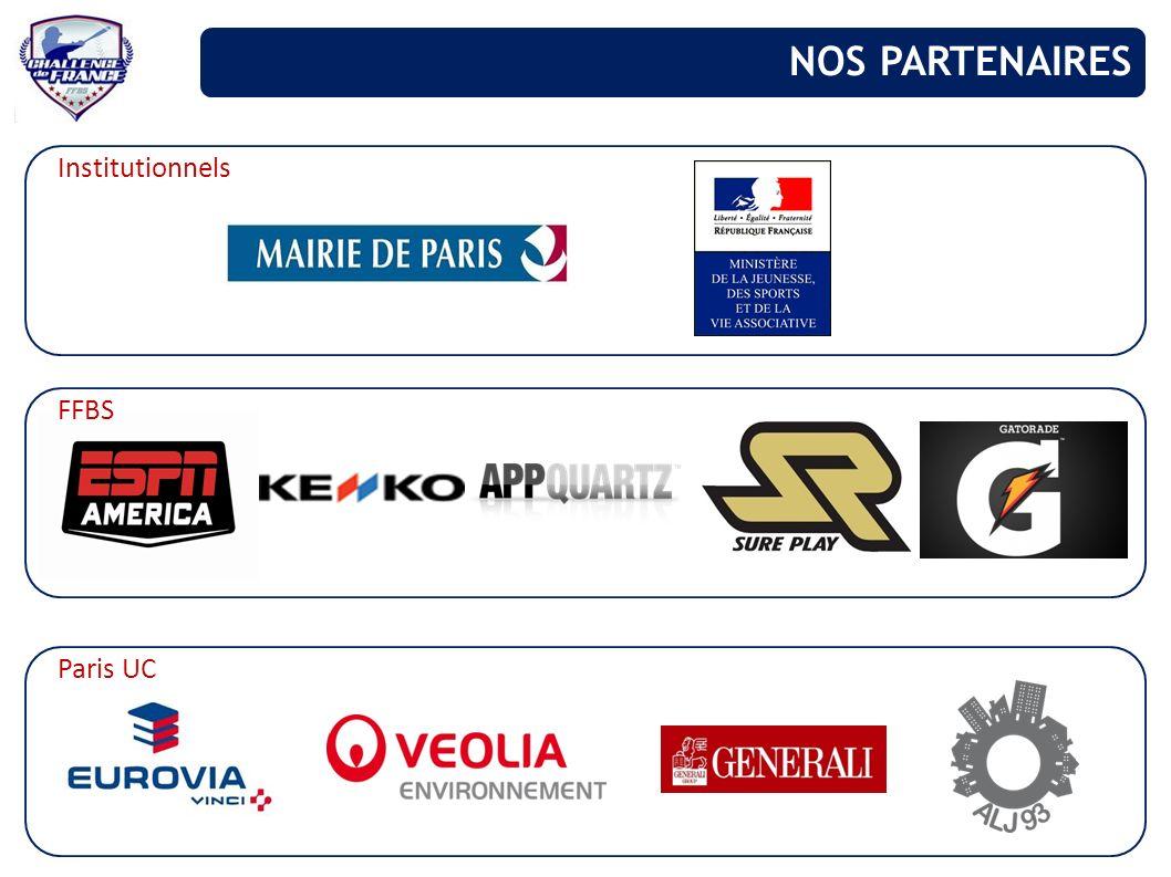 NOS PARTENAIRES Institutionnels FFBS Paris UC