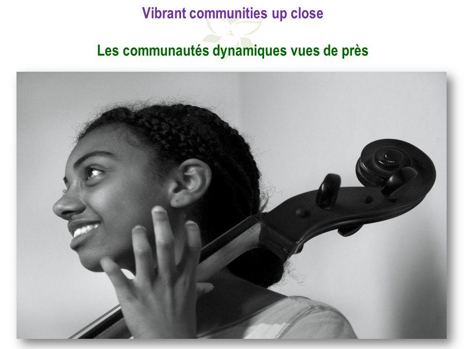 Vibrant communities up close Les communautés dynamiques vues de près