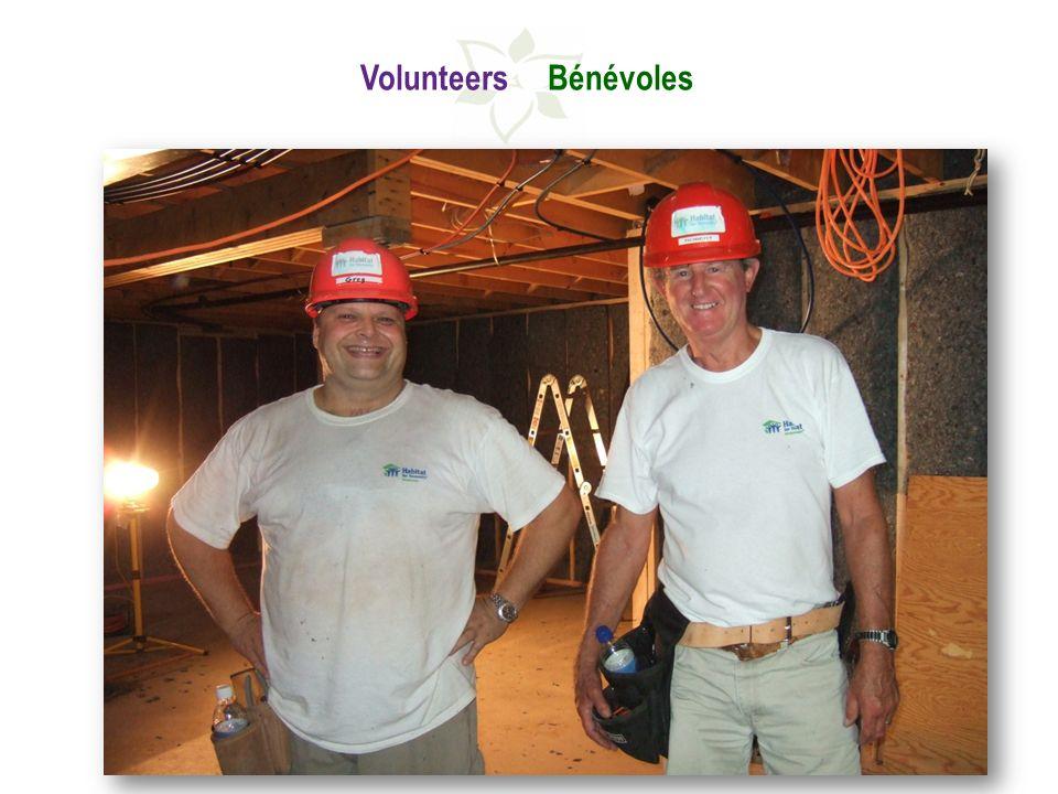 Volunteers Bénévoles