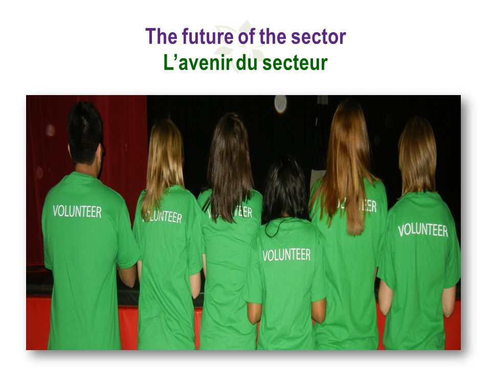 The future of the sector Lavenir du secteur