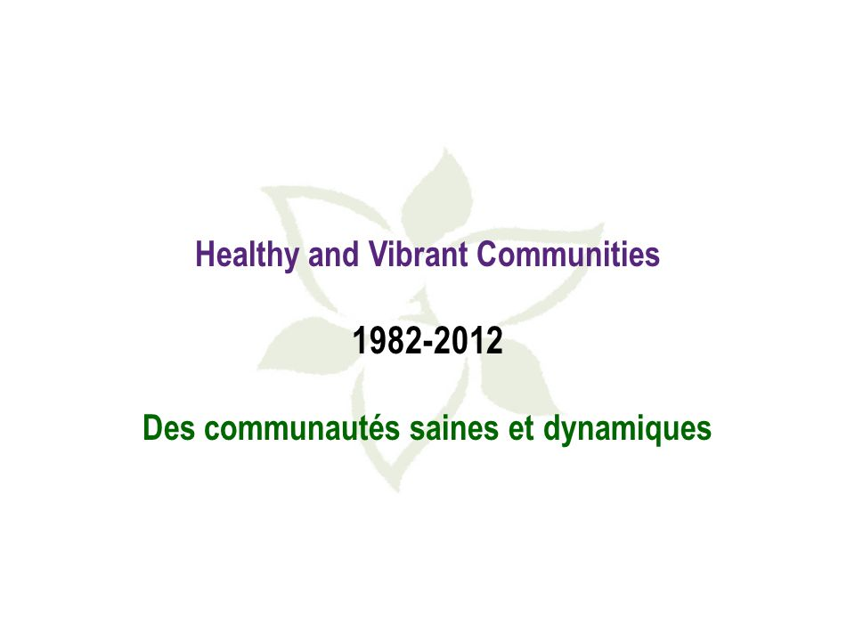 What do healthy and vibrant communities look like - up close.