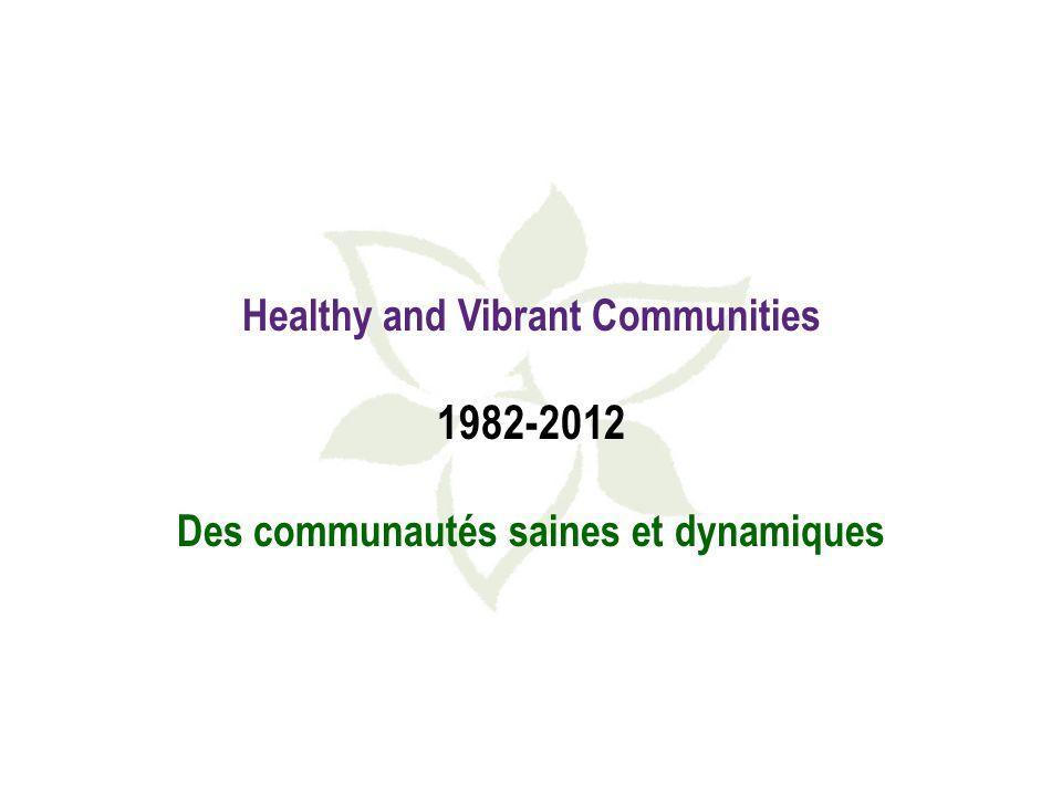 Healthy and Vibrant Communities 1982-2012 Des communautés saines et dynamiques