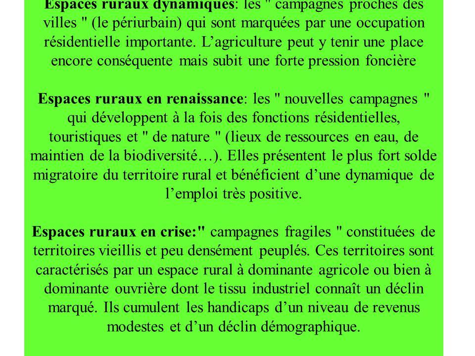 Espaces ruraux dynamiques: les