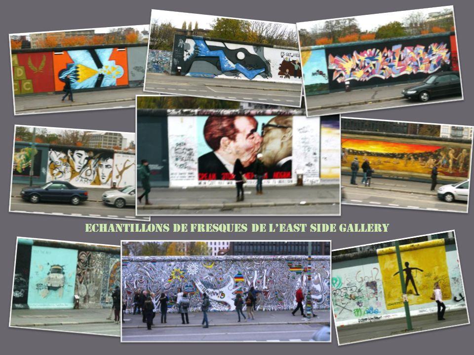 Echantillons de fresques de lEast Side Gallery