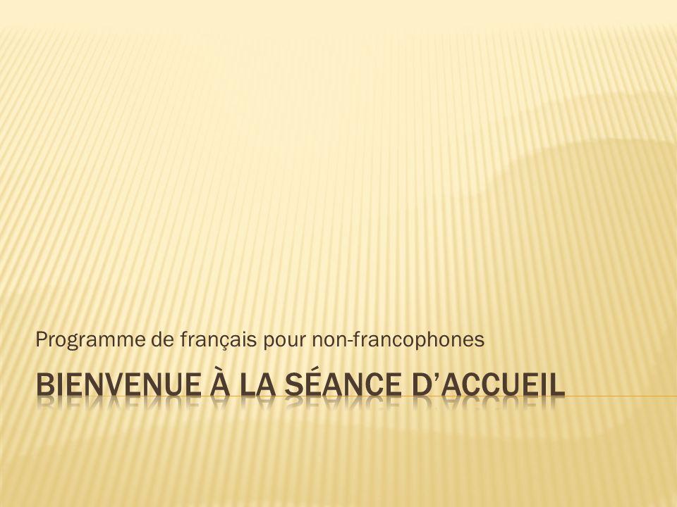 Programme de français pour non-francophones