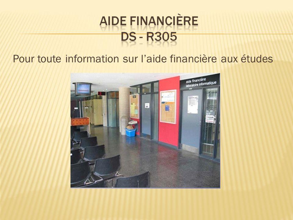 Pour toute information sur laide financière aux études