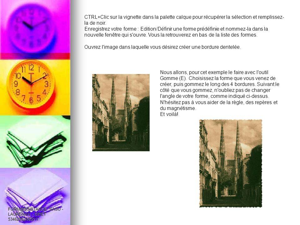 CTRL+Clic sur la vignette dans la palette calque pour récupérer la sélection et remplissez- la de noir.