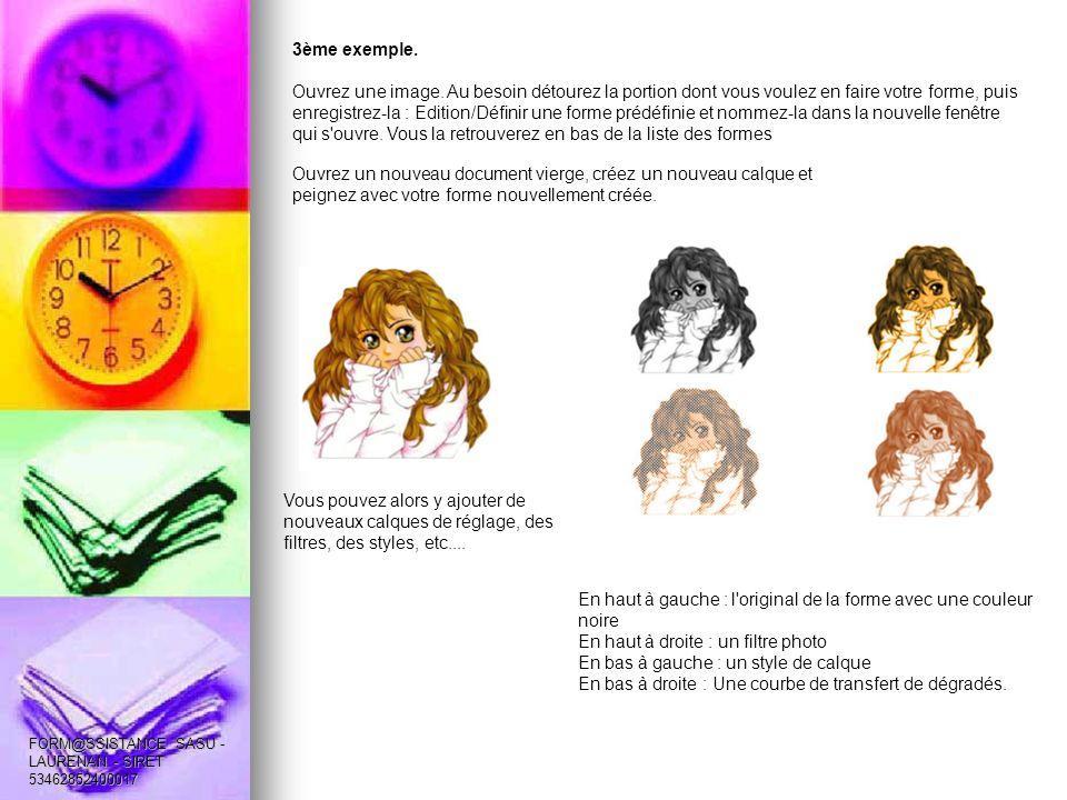 4ème exemple.Nous allons texturer une image avec un pinceau créé pour l occasion.