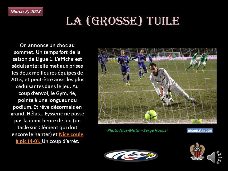 Janvier 13, 2013 Après la gifle reçue à Lyon (3-0) juste avant la trêve, lOGCN a terminé la phase aller à la 9e place.