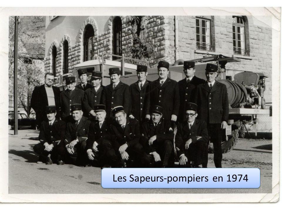 Les Sapeurs-pompiers en 1974