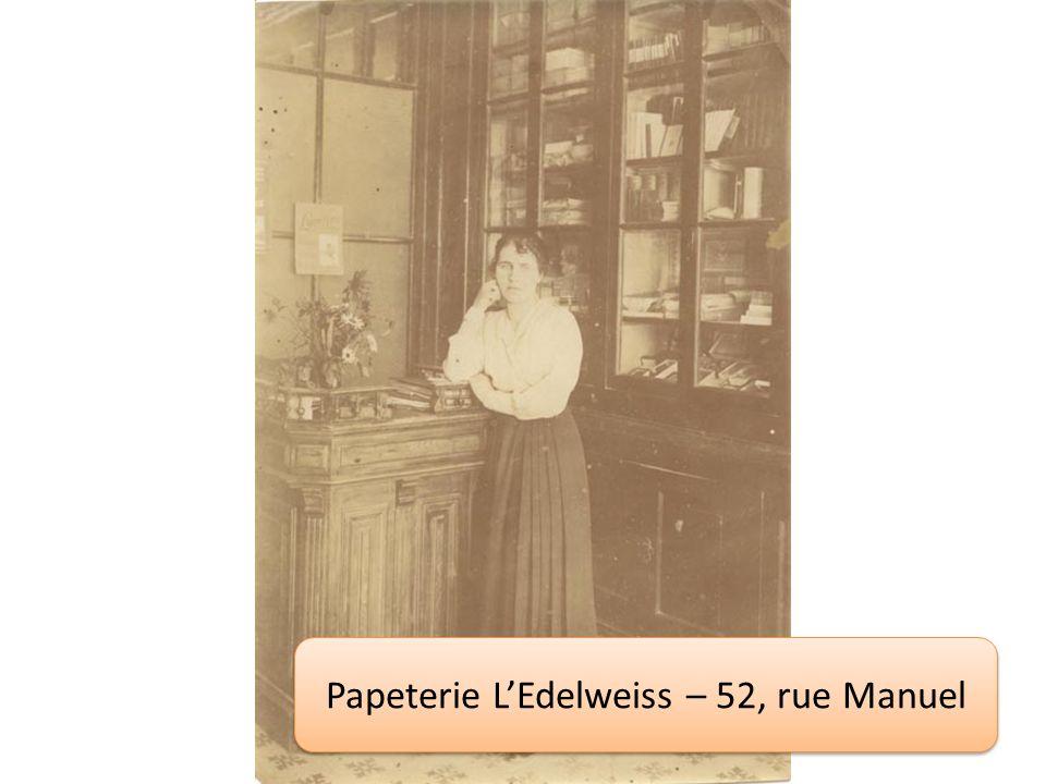Papeterie LEdelweiss – 52, rue Manuel