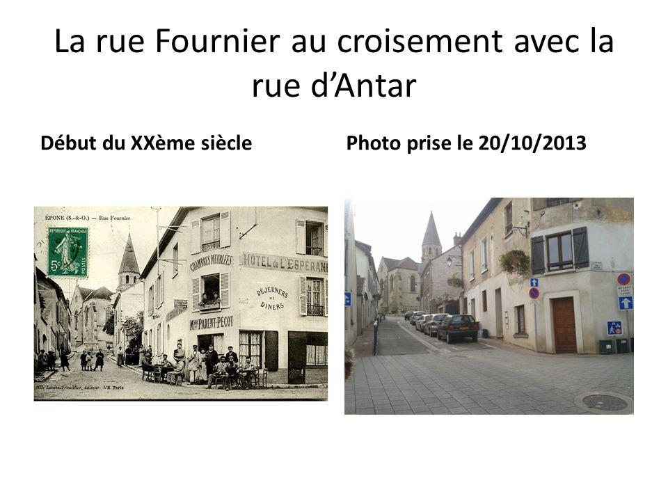 La rue Fournier au croisement avec la rue dAntar Début du XXème sièclePhoto prise le 20/10/2013