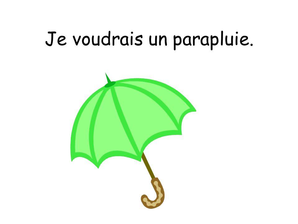 Je voudrais un parapluie.