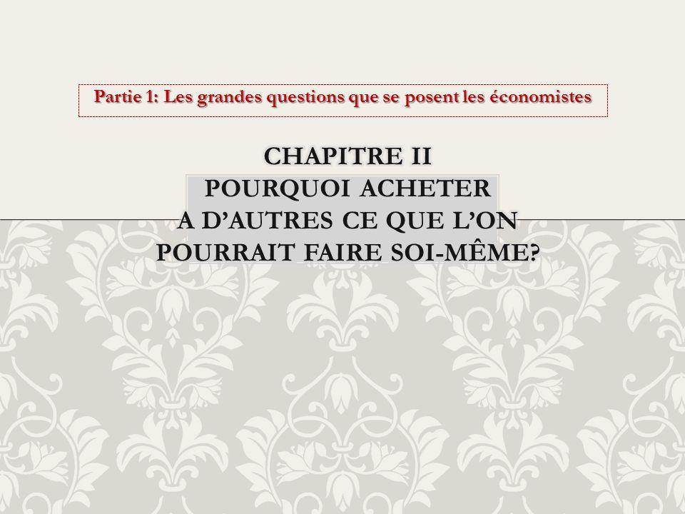 Partie 1: Les grandes questions que se posent les économistes