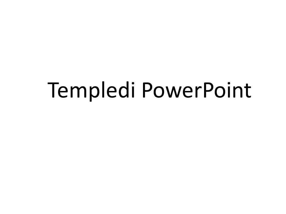 Templedi PowerPoint