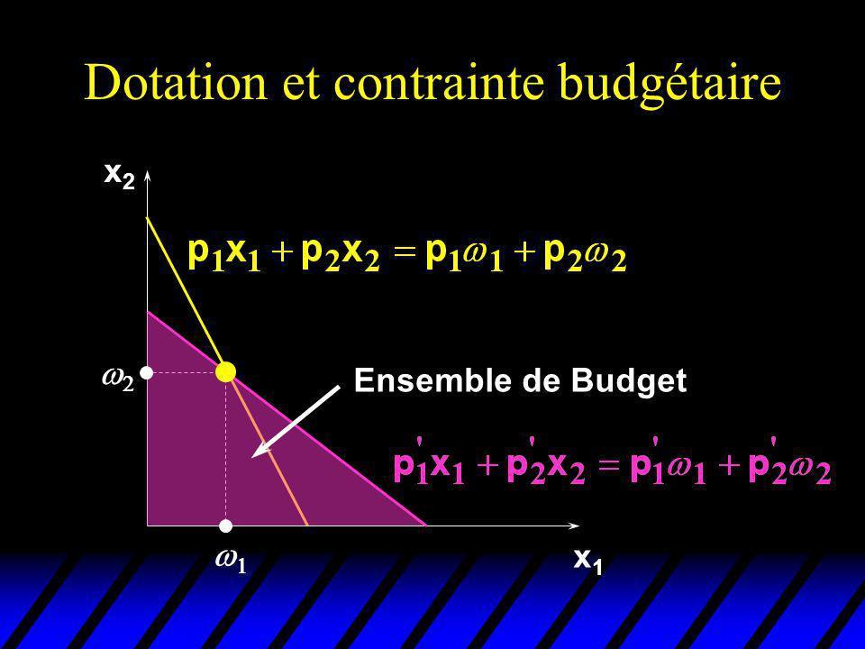 x2x2 x1x1 Ensemble de Budget