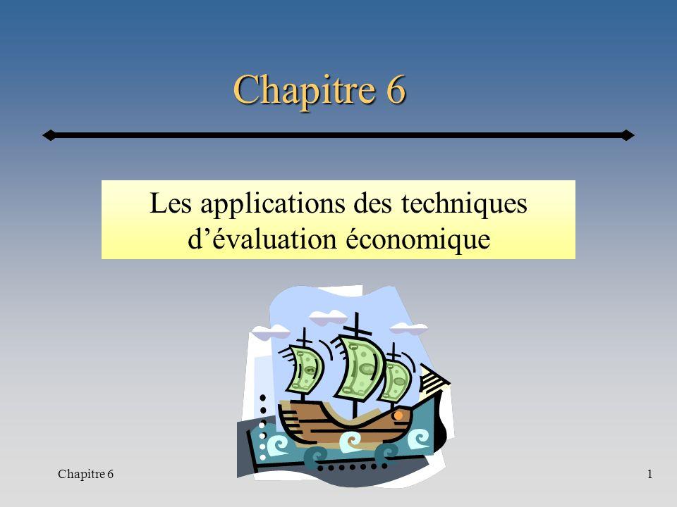 Chapitre 61 Les applications des techniques dévaluation économique