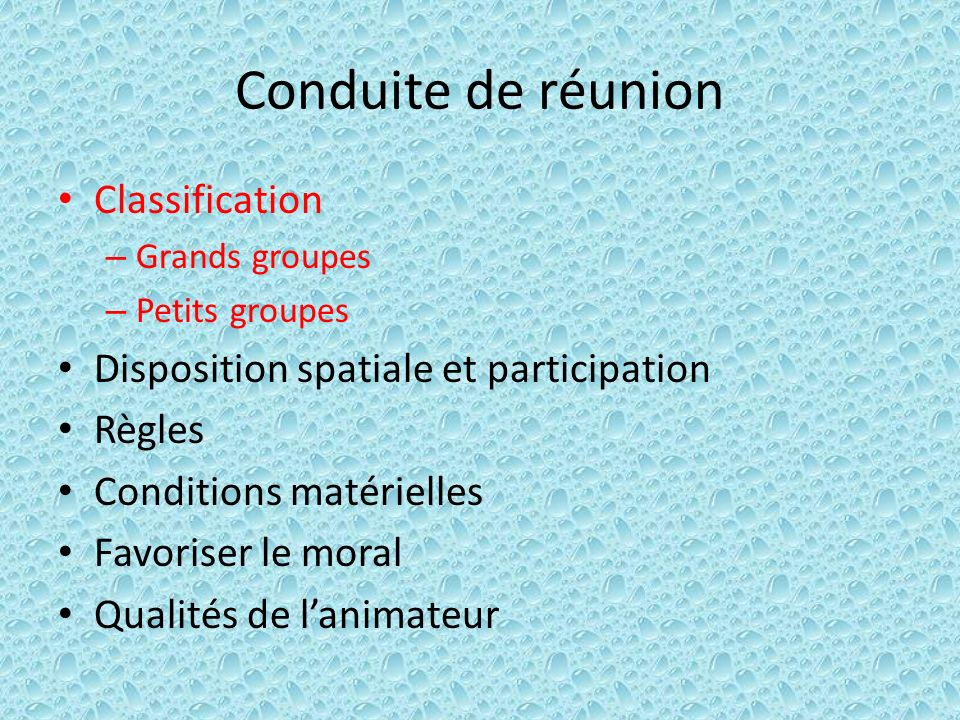 Classification Grands groupes – Meeting – Conférence