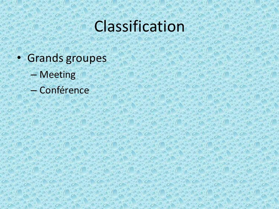 Exercice: se présenter Base: nom, prénom (âge) Au nom de quoi on participe au groupe: – Exemple: Diplôme, qualification Institution… Qualités particulières pouvant être intéressantes pour les participants (savoir se vendre !!!)
