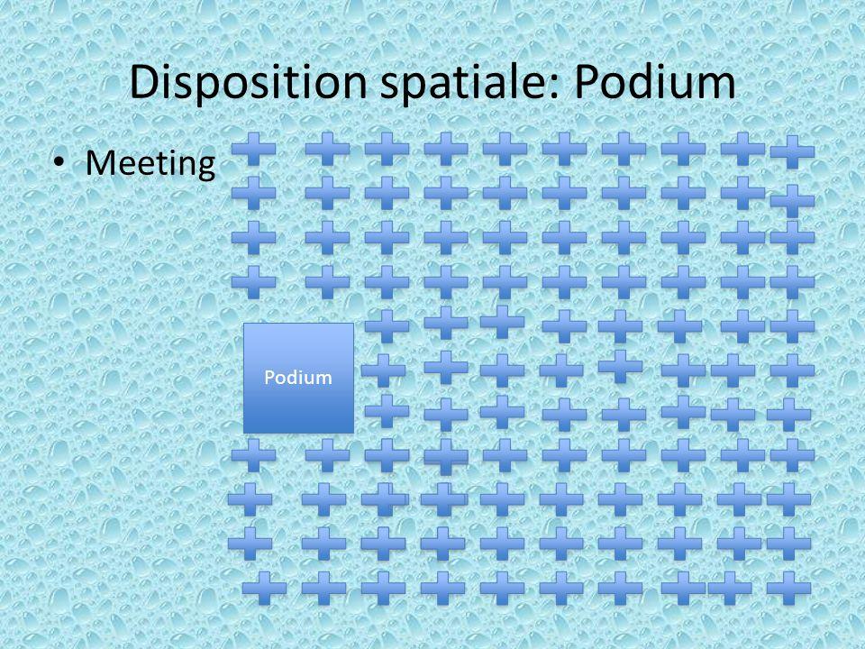 Disposition spatiale: Podium Meeting Participation Podium