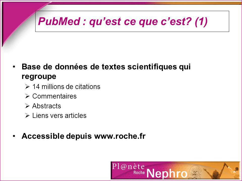 PubMed : quest ce que cest.