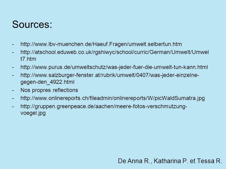 De Anna R., Katharina P. et Tessa R.