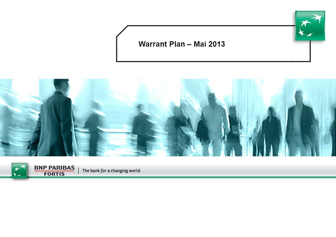 1 Warrant Plan – Mai 2013