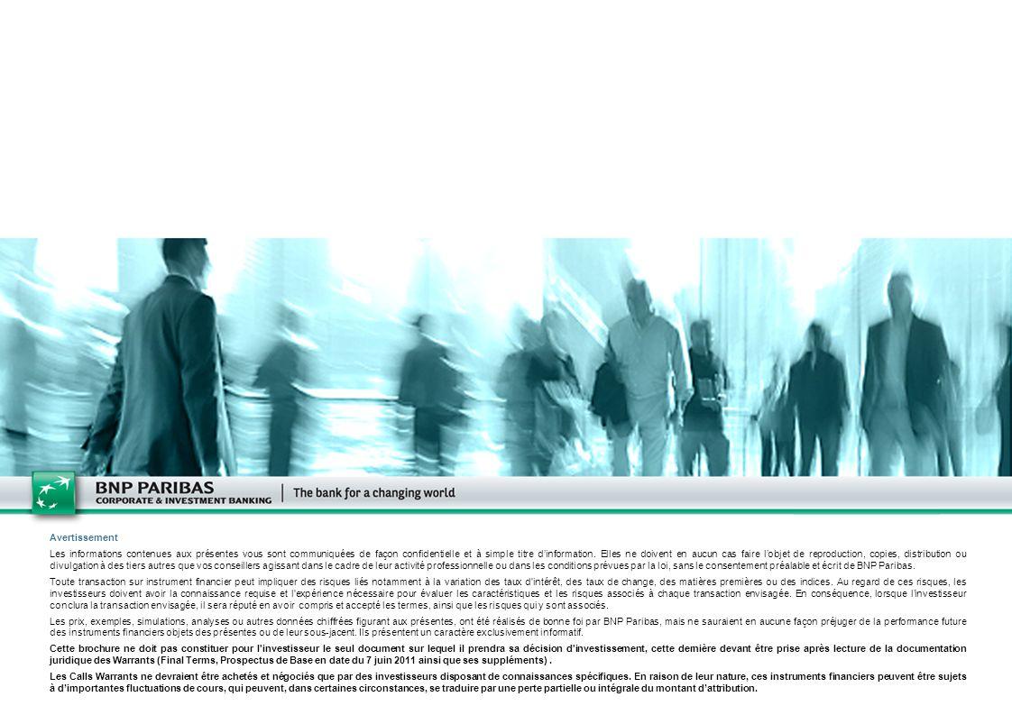 22 Avertissement Les informations contenues aux présentes vous sont communiquées de façon confidentielle et à simple titre dinformation. Elles ne doiv