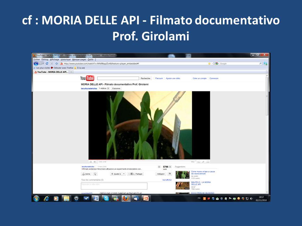 cf : MORIA DELLE API - Filmato documentativo Prof. Girolami