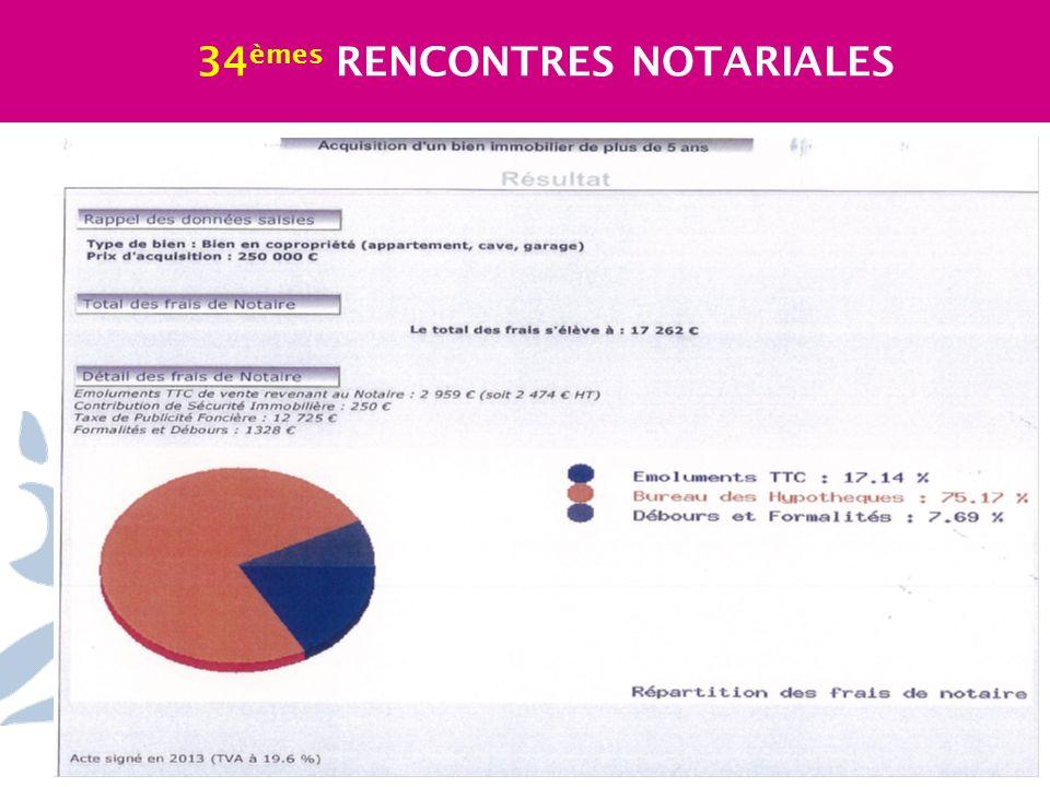34 èmes RENCONTRES NOTARIALES